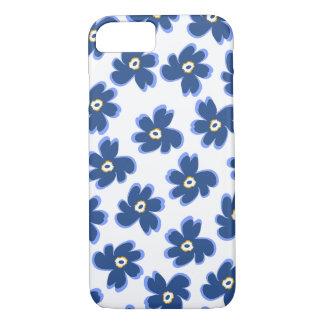 Cornflower Blue Kukka iPhone 7 Case