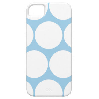 Cornflower Blue Large Polka Dot iPhone 5 Case iPhone 5 Covers