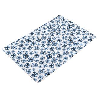 Cornflower Blue Lucky Shamrock Clover Floor Mat