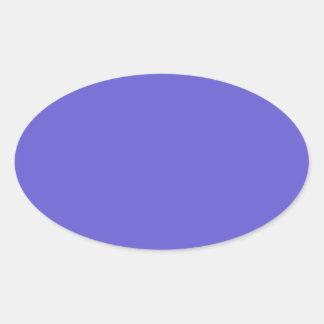 Cornflower Blue Oval Sticker