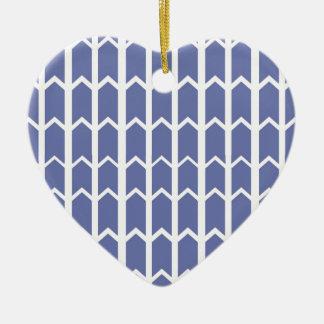 Cornflower Blue Panel Fence Ceramic Heart Decoration
