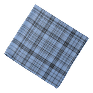 Cornflower Blue Plaid Bandana