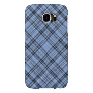 Cornflower Blue Plaid Samsung Galaxy S6 Cases