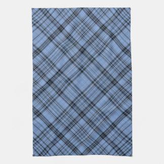 Cornflower Blue Plaid Towel