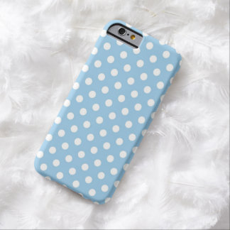 Cornflower Blue Polka Dot iPhone 6 case