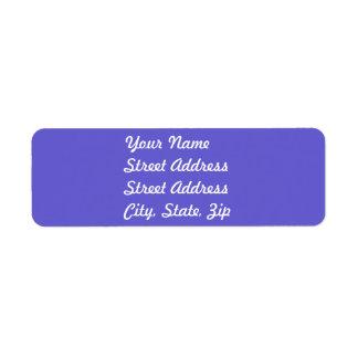 Cornflower Blue Return Address Sticker Return Address Label