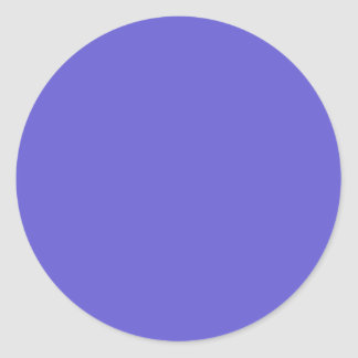Cornflower Blue Round Sticker