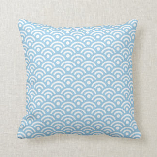 Cornflower Blue Seigaiha Pillow Throw Cushions