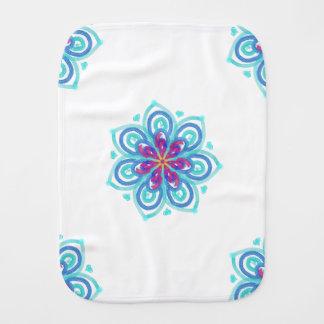 Cornflower blue starflower baby burp cloths