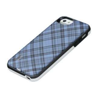 Cornflower Blue Tartan iPhone SE/5/5s Battery Case