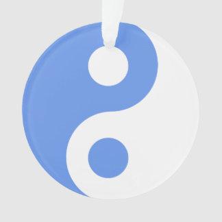 Cornflower Blue Yin Yang Symbol Ornament