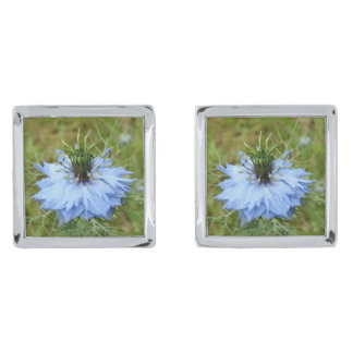 Cornflower Cufflinks Silver Finish Cufflinks