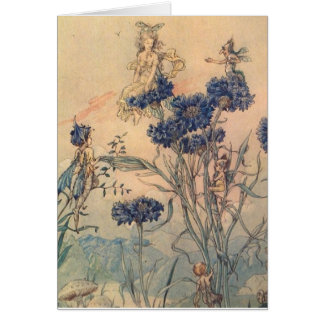 Cornflower Fairies, Card