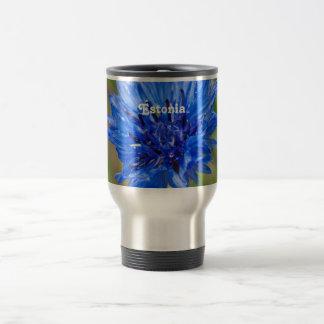 Cornflower Stainless Steel Travel Mug