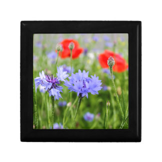 cornflowers and poppies small square gift box