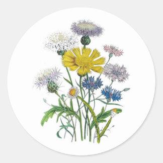 Cornflowers Classic Round Sticker