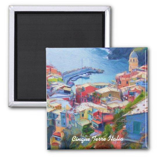Corniglia Cinque Terre Italia Square Magnet