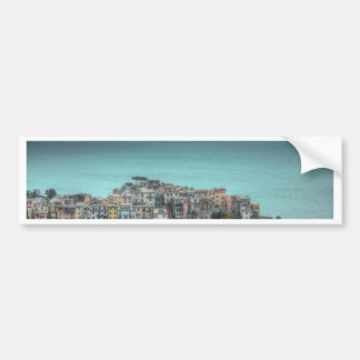 Corniglia on the cliffs, Cinque Terre Italy Bumper Sticker