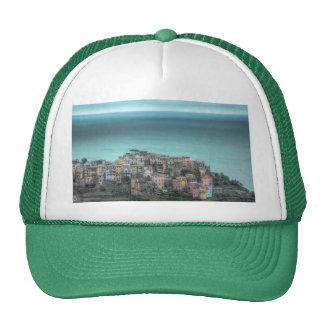 Corniglia on the cliffs, Cinque Terre Italy Cap