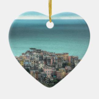Corniglia on the cliffs, Cinque Terre Italy Christmas Ornament