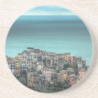 Corniglia on the cliffs, Cinque Terre Italy Coaster