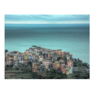 Corniglia on the cliffs, Cinque Terre Italy Postcard