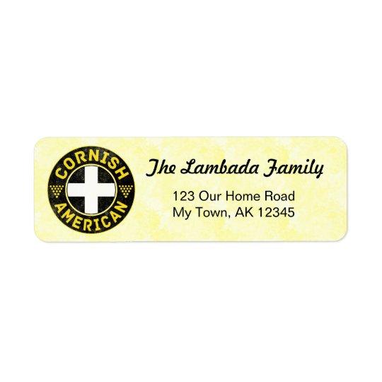 Cornish American Address Labels