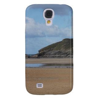 Cornish Beach and Coastline on gloomy day Galaxy S4 Case