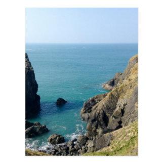 Cornish cliffs postcard