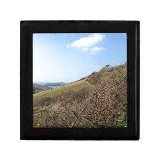 Cornish coast small square gift box
