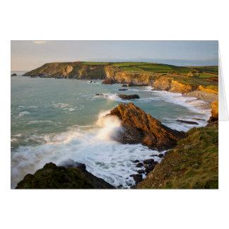 Cornish coastline card