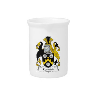 Cornish Family Crest Pitchers