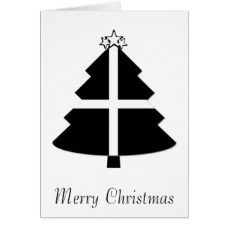 Cornish Flag Christmas Tree Card
