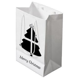 Cornish Flag Christmas Tree Medium Gift Bag