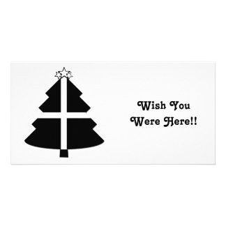 Cornish Flag Christmas Tree Personalized Photo Card
