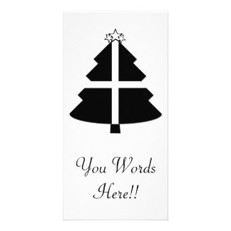 Cornish Flag Christmas Tree Photo Greeting Card