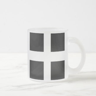 Cornish Flag Frosted Beer Mug