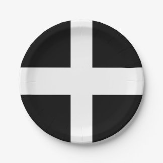Cornish Flag Paper Party Plate 7 Inch Paper Plate