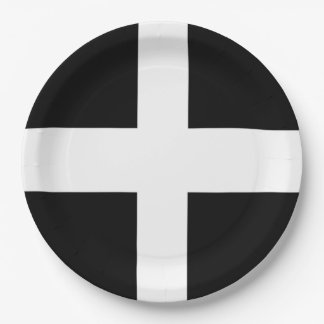 Cornish Flag Paper Party Plate 9 Inch Paper Plate