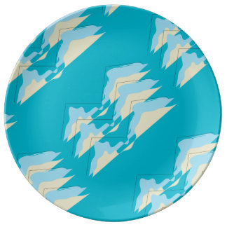 Cornish inspired abstract design plate porcelain plate