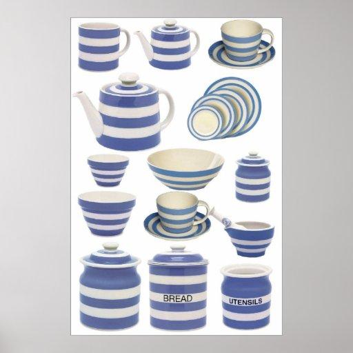 Cornish Kitchen ware Poster