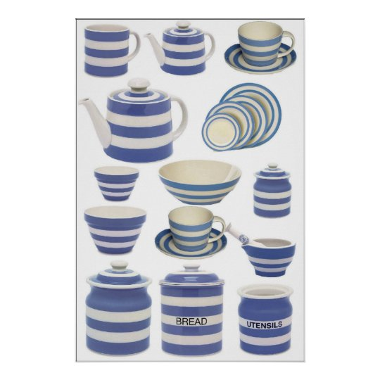 Cornish Kitchen ware Poster