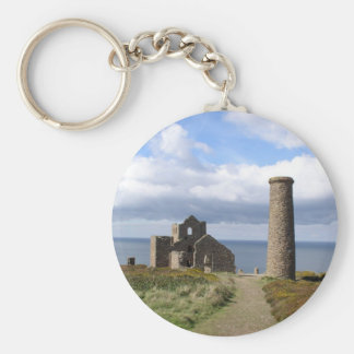 Cornish mining ruine in wheal mill 03 key chains