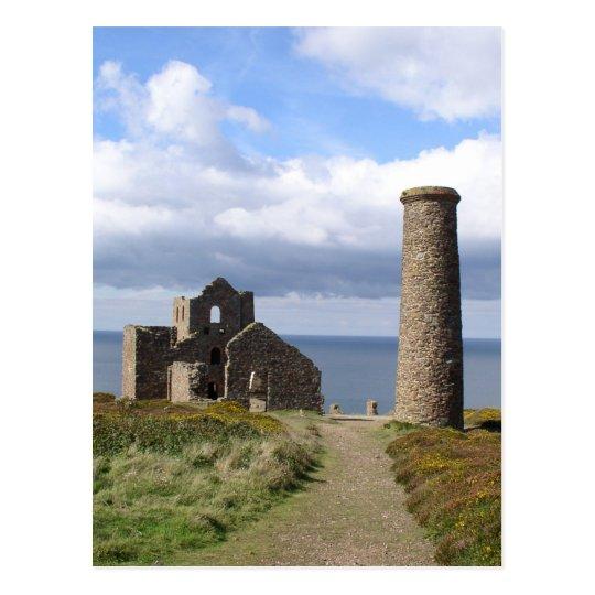 Cornish mining ruine in wheal mill 03 postcard