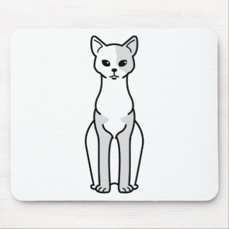 Cornish Rex Cat Cartoon Mouse Pad