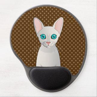 Cornish Rex Cat Cartoon Paws Gel Mouse Pads