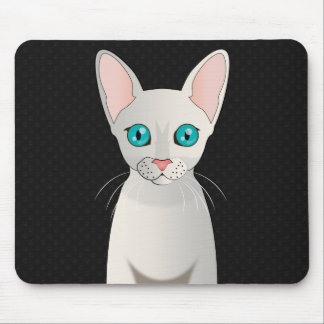 Cornish Rex Cat Cartoon Paws Mouse Pad