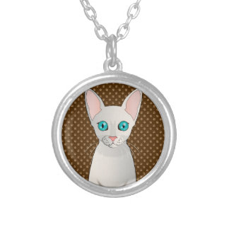 Cornish Rex Cat Cartoon Paws Personalized Necklace