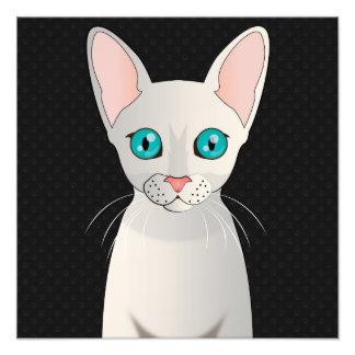 Cornish Rex Cat Cartoon Paws Photographic Print