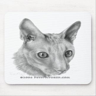 Cornish Rex cat Mouse Pads
